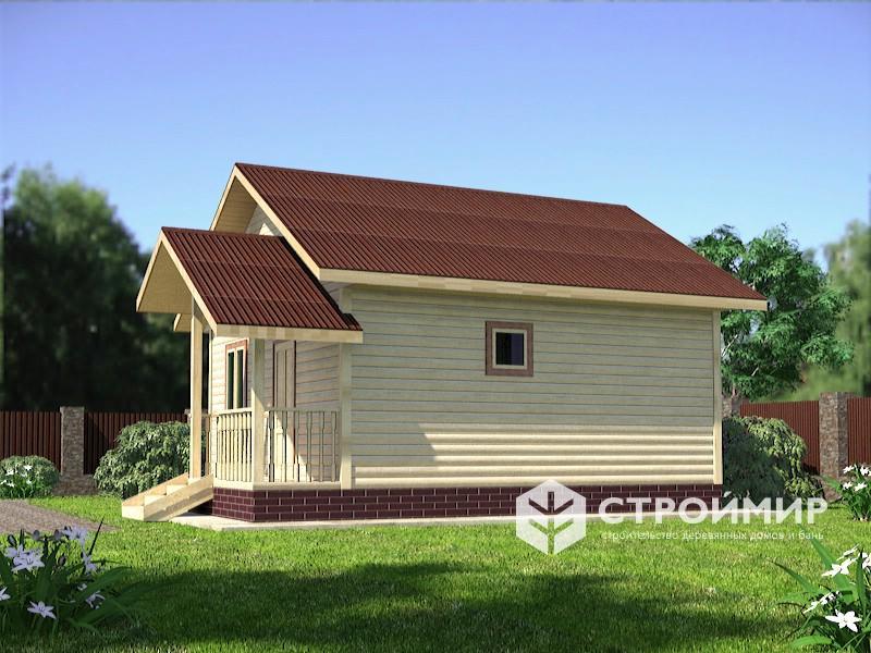 Одноэтажный дом из бруса 6х6 по проекту Д-103