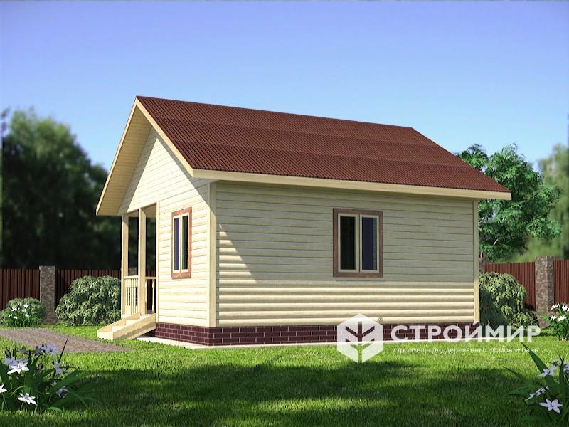 Одноэтажный дом из бруса 6х6 по проекту Д-105
