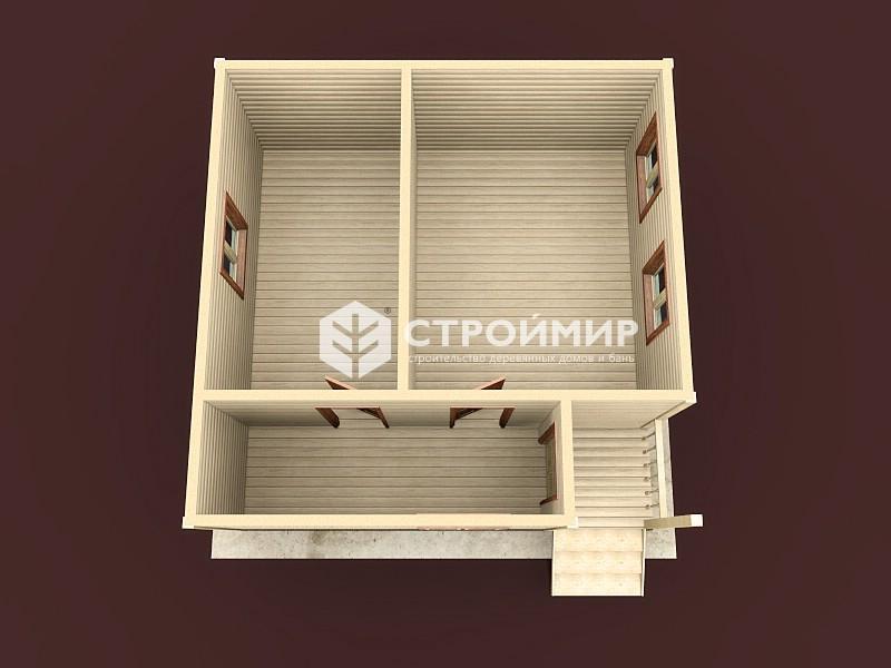 Одноэтажный дом из бруса 6х6 по проекту Д-106