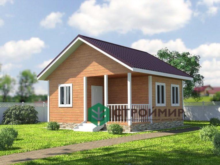 Каркасный дачный дом 6х6, проект К-46