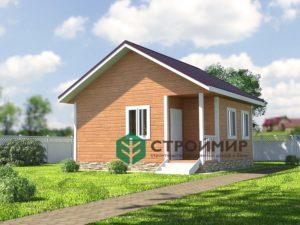 Каркасный дом по проекту К-48
