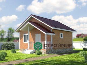 Каркасный дом 6х6, проект К-49