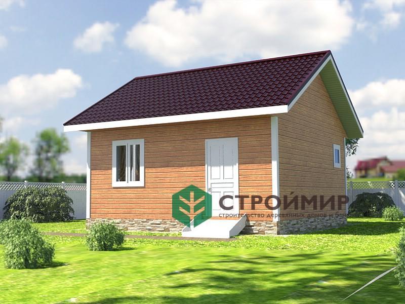 Каркасный садовый дом 6х6, проект К-45