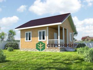 Каркасный дом 6х6, проект К-47