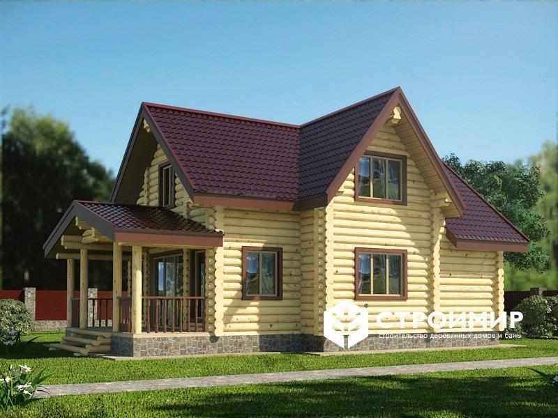 Дом 10х11 из бревна ДБР-14