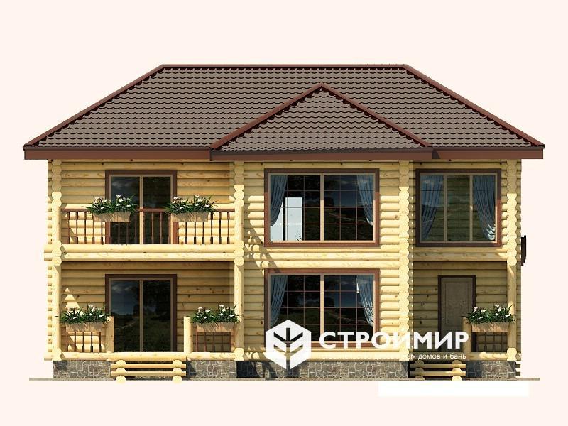Дом 11х11 из бревна ДБР-7