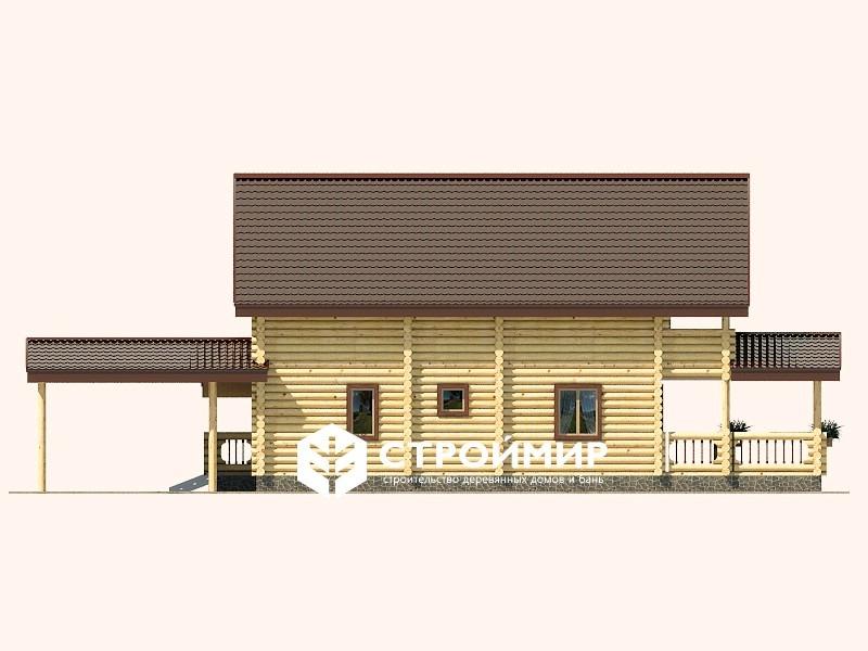 Дом 8х19 из бревна ДБР-17