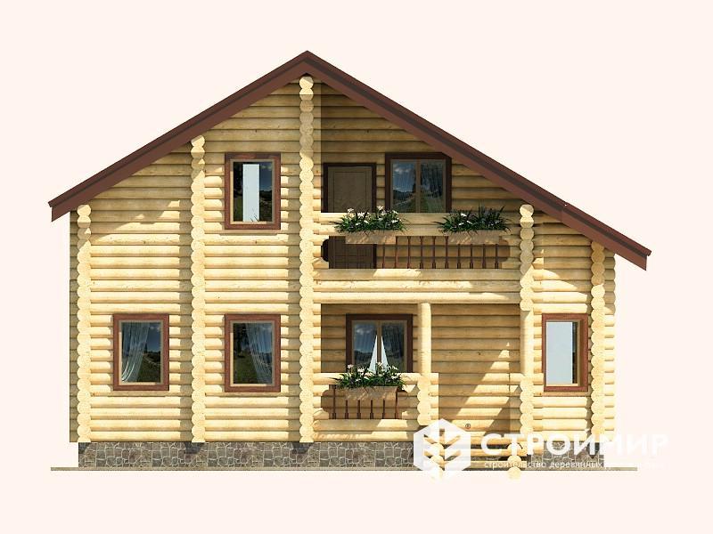 Дом 8х9 из бревна ДБР-1