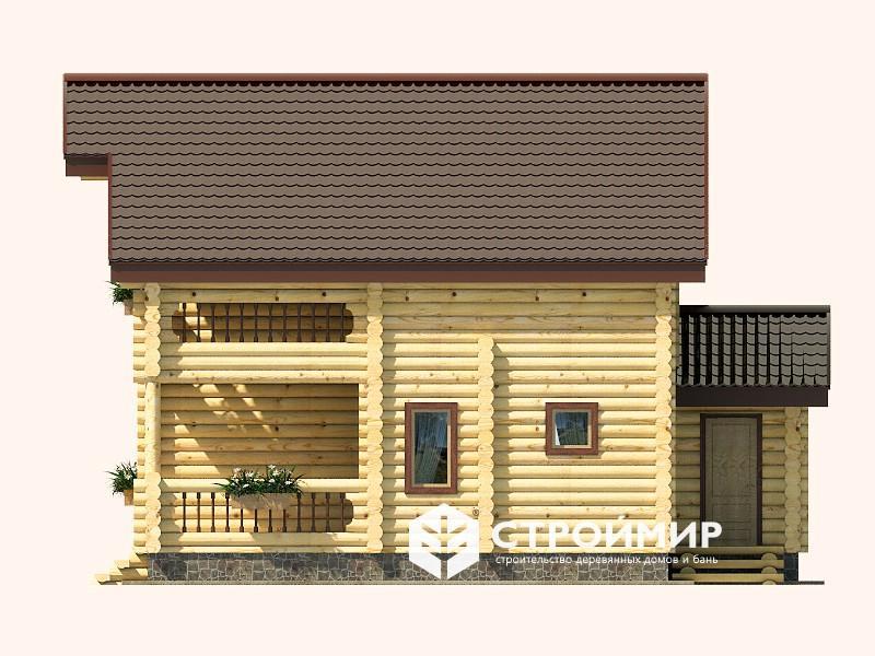 Дом 8х10 из бревна ДБР-6