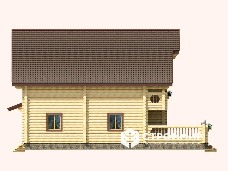 Дом 11х13 из бревна ДБР-4
