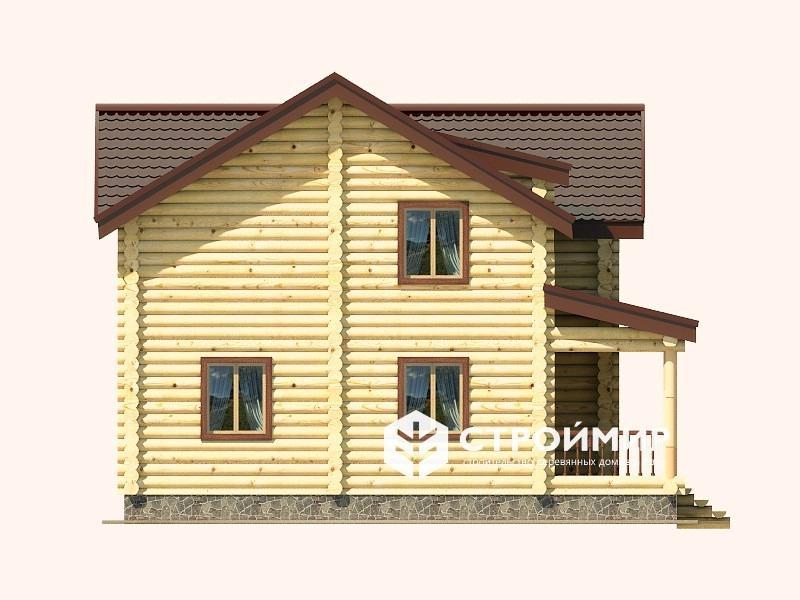 Дом 9х14 из бревна ДБР-10