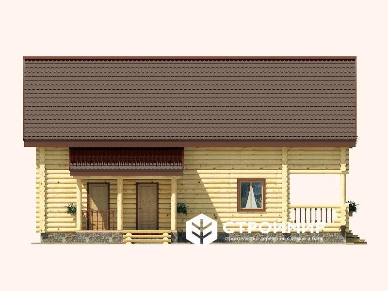 Дом 9х13 из бревна ДБР-13