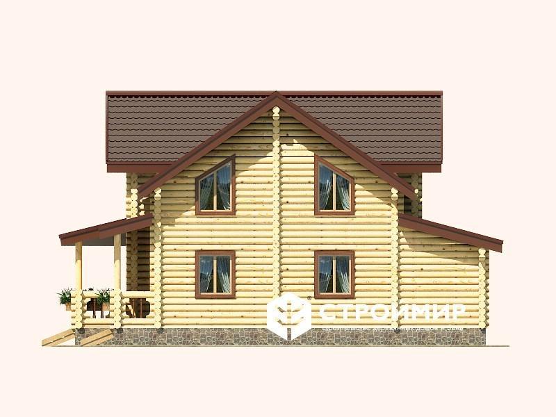Дом 12х14 из бревна ДБР-16