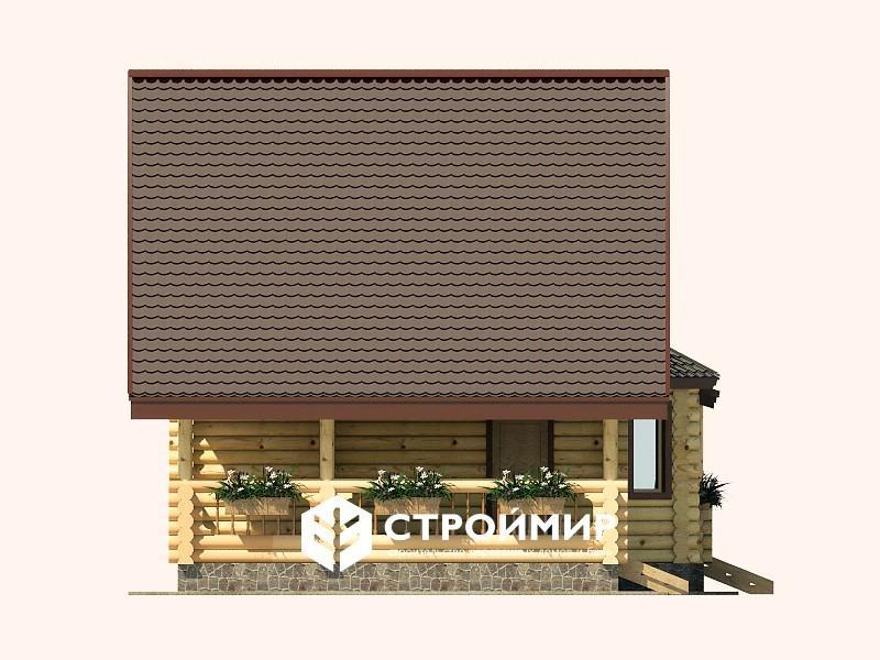 Дом 6х11 из бревна ДБР-19