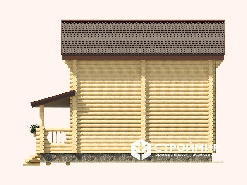 Дом 7х9 из бревна ДБР-3