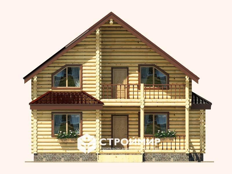 Дом 9х12 из бревна ДБР-24