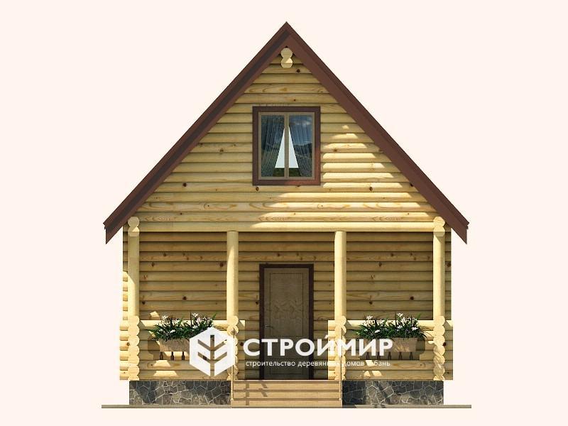 Дом 5х8 из бревна ДБР-27