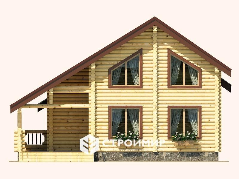 Дом 7х9 из бревна ДБР-28