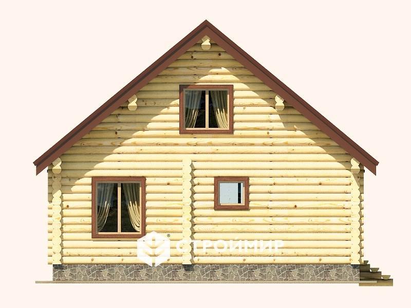 Дом 7х8 из бревна ДБР-22