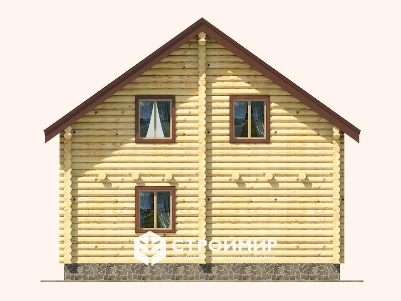 Дом 8х8 из бревна ДБР-26