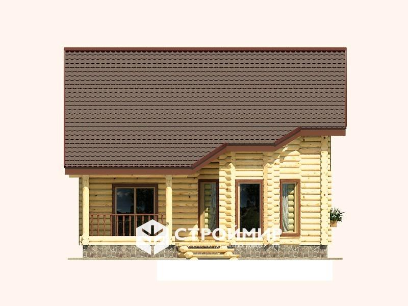 Дом 8х12 из бревна ДБР-23