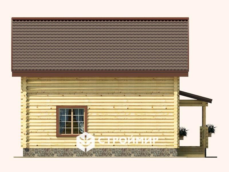 Дом 8х9 из бревна ДБР-30
