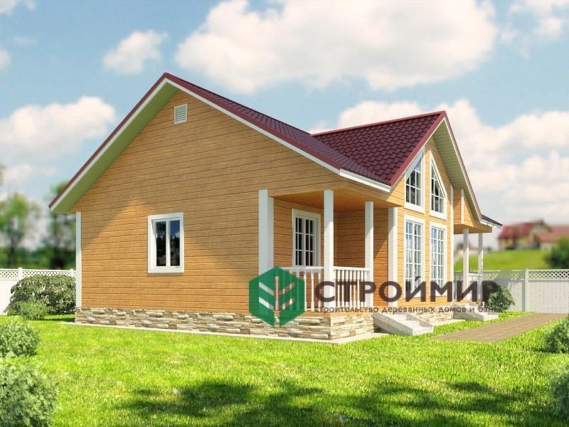 Каркасный дом 8х11, проект К-1