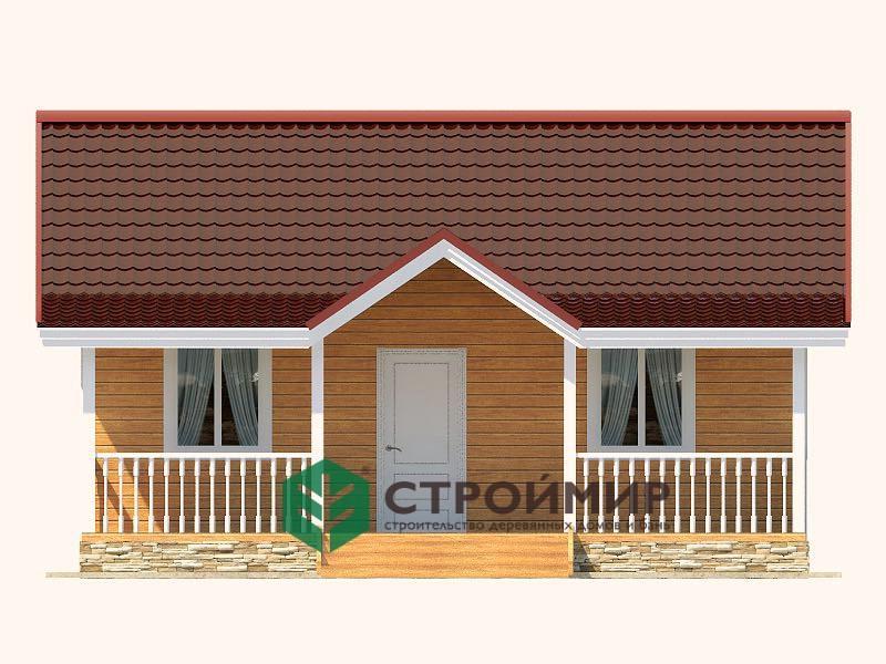 Каркасный дом 8х8 в один этаж, проект К-3