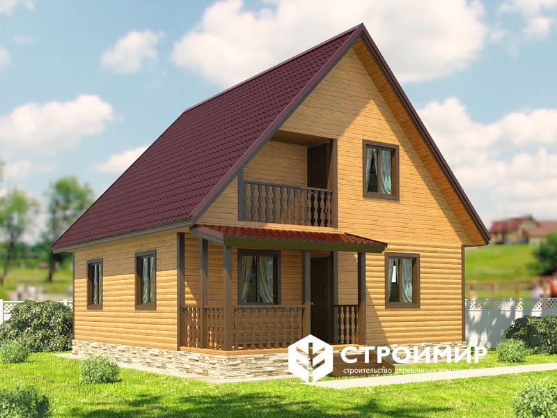 Деревянный дом 8х9 (Д-66)