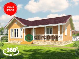 Каркасный дом 9,5х10,5 с тремя комнатами, проект К-2