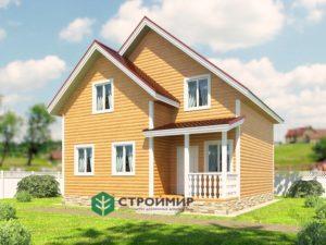 Каркасный дом 8х8 проект К-57