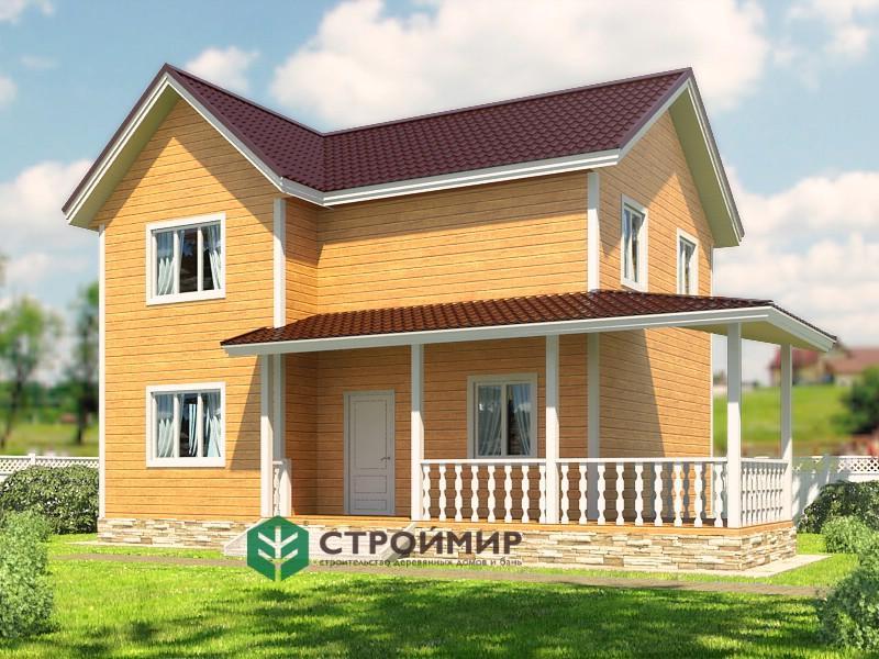 Каркасный дом 7х9 проект К-58