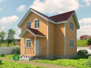 Каркасный дом 6,5х8,5 проект К-54