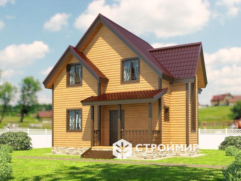 Проект дома 7х8 из бруса (Д-116)