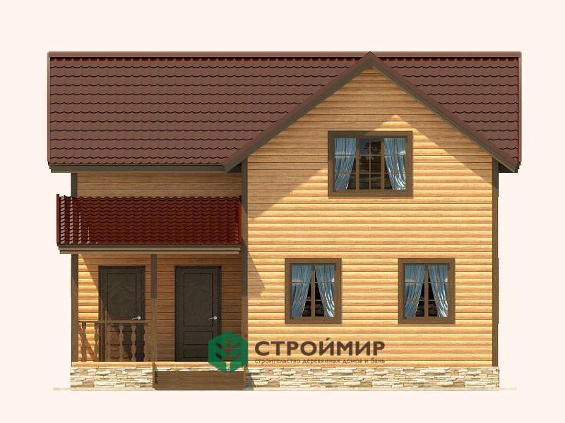 Каркасный дом 9х9 проект К-55