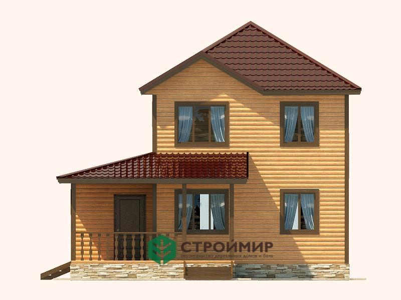 Каркасный дом 8х8,5 проект К-56