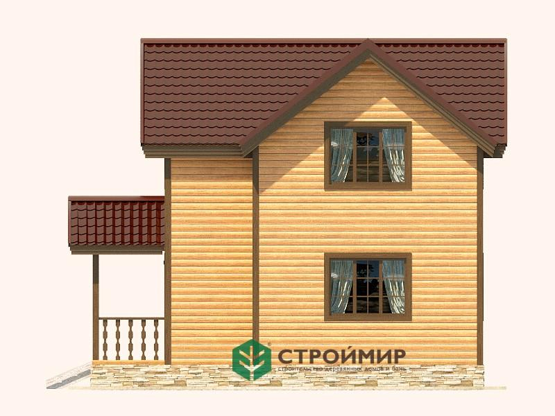 Каркасный дом 7х7 проект К-54