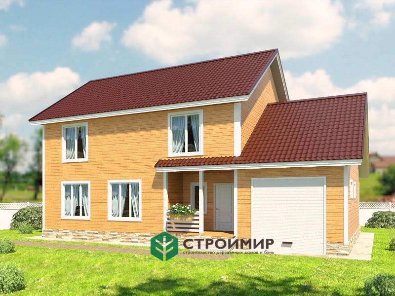 Каркасный дом проект К-63
