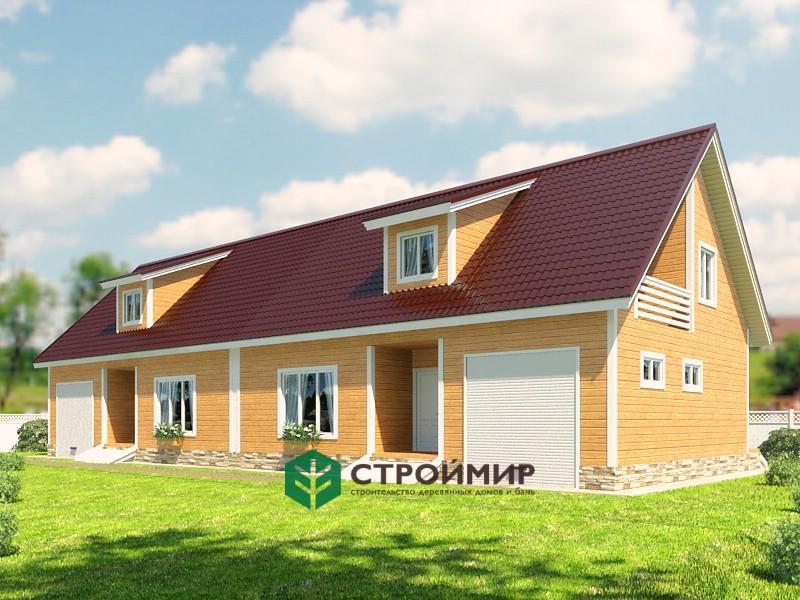 Каркасный дом проект К-64