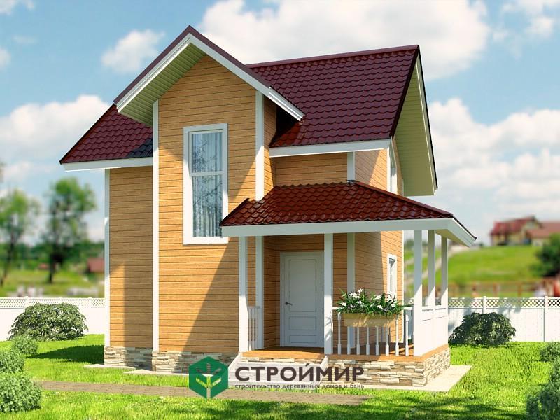 Каркасный дом проект К-66