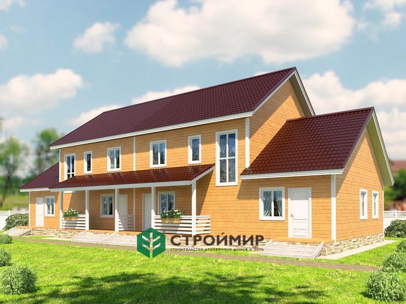 Каркасный дом на 2 семьи, проект К-67