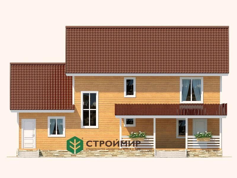 Каркасный дом 8х14 проект К-63