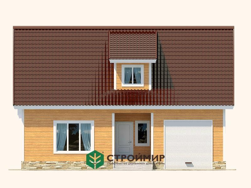 Каркасный дом 8х11 проект К-65