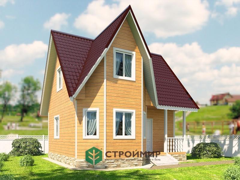 Каркасный дом 7х7 проект К-62
