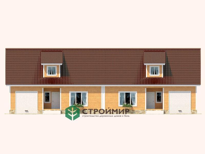 Каркасный дом 8х22, проект К-64