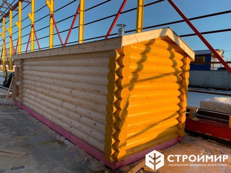 Мобильная баня из бревна в Воронеж