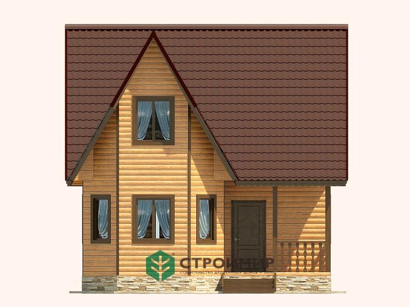 Каркасный дом проект К-62