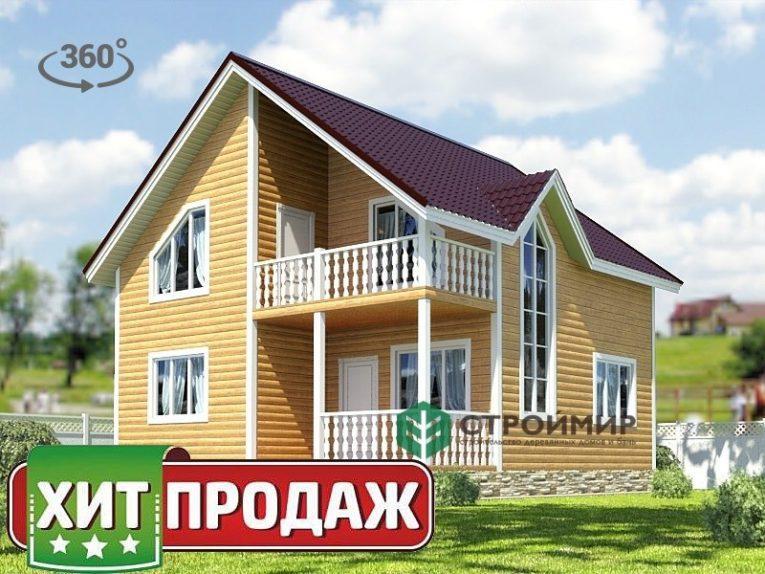 Каркасный дом 8х8, проект К-39