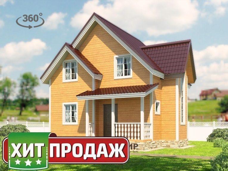 Каркасный дом 7х8 проект К-60