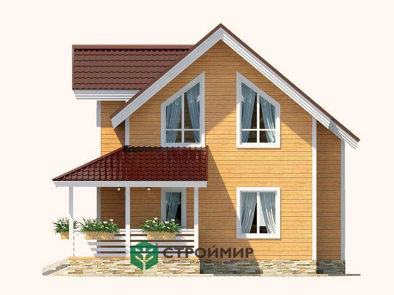 Каркасный дом 6х9 проект К-66